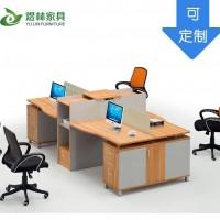 办公桌职员卡座电脑桌 3/6人位组合办公桌 屏风办公桌 产地货源